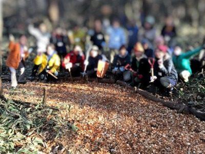 森のトレイルづくり&焚火de婚活(11/23) 実施報告 ビフォー・アフターを見てください(^^)/